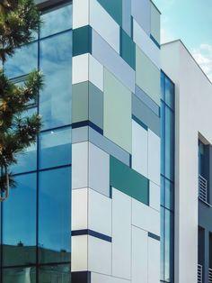 Beautiful HPL facades create an eye-catching exterior! #Facades #Bestlaminate