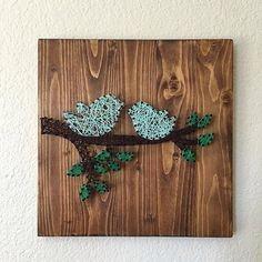 MADE TO ORDER Love Birds on Tree Branch String Art by maridooodle on Etsy https://www.etsy.com/ca/listing/386038200/made-to-order-love-birds-on-tree-branch