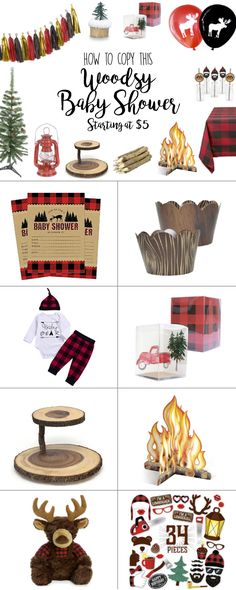 Rustic Baby Shower Boy Decorations and Ideas - Cutest Ideas for Baby Boy Shower, Woodland, Woodsy, Decorations, Deer, Centerpieces, Plaid, Invitations, Favors, Burlap, Cake, DIY, Ideas, Buffalo Plaid Check, theme, favors, gifts, forest #babyshowerinvitaitons #babyshowerideas #babyshowerdecorations, lumberjack