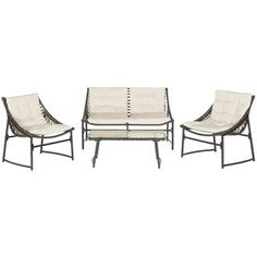 Breanna 4 Piece Seating Group with Cushions