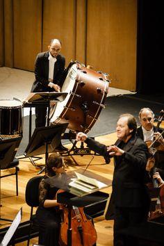 Maestro Roberto Minczuk, Cello e percussão OSB. Foto: Cicero Rodrigues