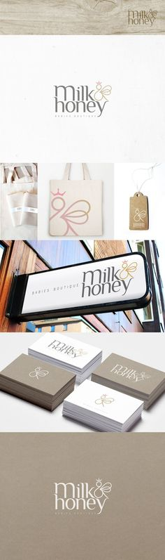 milk&honey logo and branding