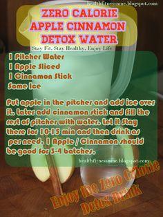 Zero Calorie Apple Cinnamon Detox Water ...i'm gonna try this