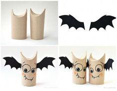 13 DIY things for Halloween with rolls of toilet paper Manualidades Halloween, Adornos Halloween, Halloween Crafts For Toddlers, Halloween Activities, Homemade Halloween Decorations, Halloween Diy, Creations, Blunt Cuts, Thin Hair