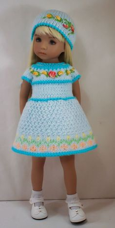 Outfit for Little Darling Knitted Dolls, Southern Belle, Little Darlings, American Girl, Doll Clothes, Harajuku, Knit Crochet, Girl Outfits, My Favorite Things