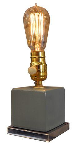 EMPIRIC 2327-01 LIGHT | EDISON LIGHT TABLE LAMP / $225 / via V