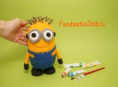 Minion crochet pattern Häkelanleitung Etsy Dawanda http://de.dawanda.com/shop/Strickgluecks https://www.etsy.com/shop/FantasticStitch