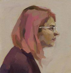 "Saatchi Art Artist Catherine Tyler Graffam; Painting, ""Portrait of Madeline in Profile"" #art"
