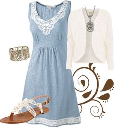 """Vintage Lace"" by modestlystylish ❤ liked on Polyvore (not the jewelry)"