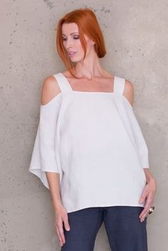 Need a sewing project to help you get ready for summer? This off the shoulder, classic tunic with bell sleeves and side vents PDF sewing pattern will be your go-to top. The Cold Shoulder Tunic is not just a loose-fitting, white linen shirt. Linen Dress Pattern, Tunic Sewing Patterns, Sewing Blouses, Tunic Pattern, Blouse Patterns, Pattern Sewing, Sewing Shirts, Off The Shoulder Tunic, Cold Shoulder