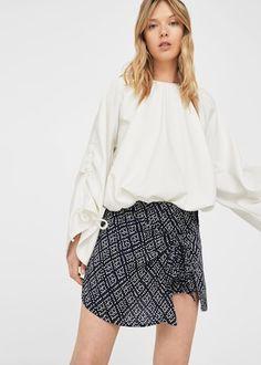 Flowy printed skirt -  Women | MANGO USA