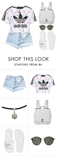 """""""adidas"""" by melanie-pacheco ❤ liked on Polyvore featuring adidas Originals, Proenza Schouler, NIKE and Ray-Ban"""
