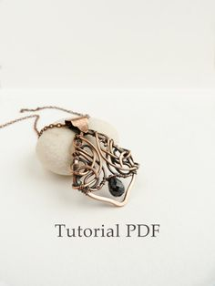 Tutorial jewelry DIY - Leaf bail symmetrical necklace - Copper soldering - Tutorial wire wrap