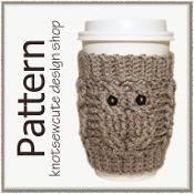 Owl Love Coffee Cozy - via @Craftsy