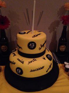 Bolo de aniversário 17 anos do filho Internet, Cake, Desserts, Food, 17 Birthday Cake, Birthday Cakes, Decorating Cakes, Drinks, Recipe
