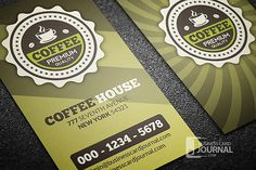 Great free retro business card template ideal for cafeteria, available for download as PSD file.