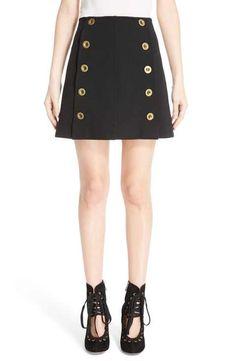 Chloé Button Front Punto Milano Skirt