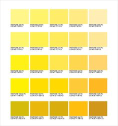 Pantone Yellow Goldenrod Color Palette In 2019 Shades Of