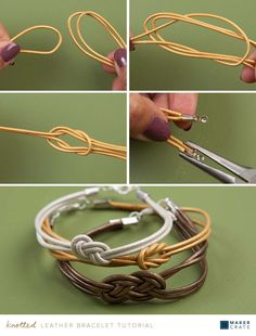 Knotted bracelet tutorial