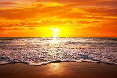 "Foto behang ""Zonsondergang op Hawaii"""