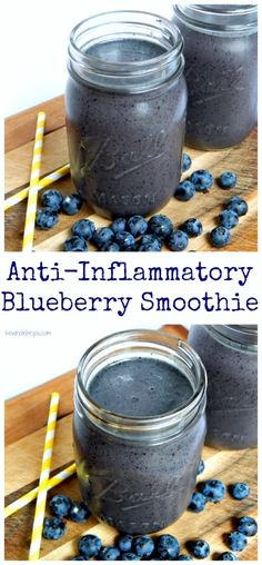 Anti-Inflammatory Blueberry Smoothie. Fight inflammation in the tastiest way! Dairy free, gluten free and vegan friendly! #weightlossfast10pounds