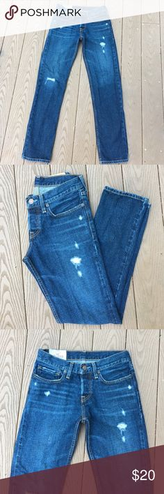 Men's Hollister Distressed Jeans- Classic Straight W28 L30 Hollister Jeans Straight
