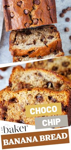 Chocolate Chip Banana Bread is an easy dessert cake recipe for beginners! This moist chocolate chip banana bread is the best way to eat your bananas for breakfast and snacks. Best served with hot choc Cake Recipes For Beginners, Fall Cake Recipes, Sponge Cake Recipes, Dessert Cake Recipes, Easy Desserts, Baking Desserts, Banana Bread Cake, Easy Banana Bread, Chocolate Chip Banana Bread
