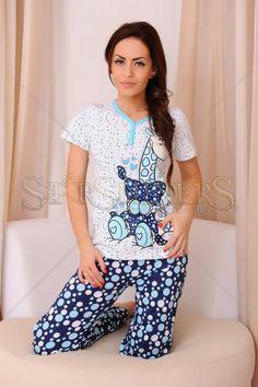 Pijama Lovely Giraffe Blue