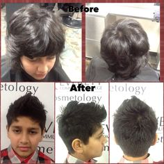 On 2/17/16 I did a fohawk haircut. I used a number 4 clipper guard and shears at the top. And I used Sebastian texturizer and American crew forming cream to style his hair. #haircut #menhaircut #fohawk #mywork