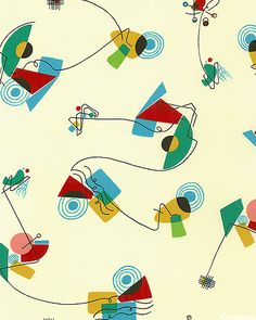 'Ah Atomic' from the 'Nicole's Prints' collection by the De Leon Design Group for Alexander Henry Fabrics