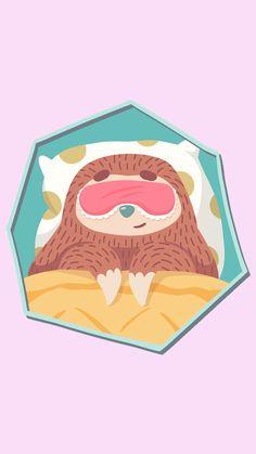 Naptime for Sloth Phone Wallpaper Seagrass Wallpaper, Paintable Wallpaper, Fabric Wallpaper, Colorful Wallpaper, Tumblr Wallpaper, Wallpaper Backgrounds, Emoji Wallpaper, Animals Watercolor, Cute Sloth