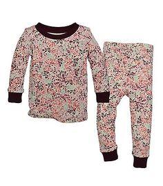 Burt's Bees Baby Organic Infant Autumn Canopy Tee and Pant Pajama Set