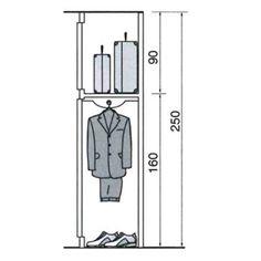 Dimension dressing, dimension placard : tous nos plans pour dessiner votre dressing ou placard - Côté Maison Dimension Dressing, Wardrobe Dimensions, Closet Bedroom, Plans, Joinery, Furniture Design, Layout, Architecture, How To Plan
