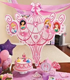 Princess and flower balloon table decorations balloonworx disney princess chandelier party decoration birthdayexpress mozeypictures Gallery