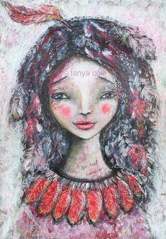 ART PRINT 'Spirit Wanderer Spiritual Wanderer'  by TanyaColeArt
