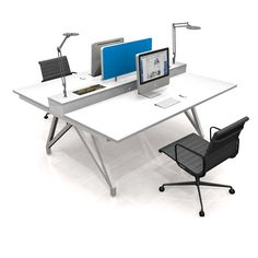 EYHOV Double Desk System by Scale 1:1 | Smart Furniture