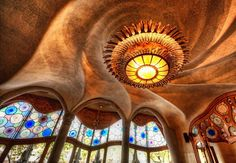Antoni Gaudi's amazing Casa Batllo in Barcelona, Spain photographed by Trey Ratcliff photo sources: The Shaft The Gaudi Cheesecake Studio The Window of Light Art Nouveau, Art Deco, Architecture Design, Amazing Architecture, Organic Architecture, Creative Architecture, Amazing Buildings, Casa Gaudi, Hotel W