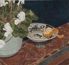 Cressida CAMPBELL Cyclamen with mandarin,2007 46 x 49cm Woodblock