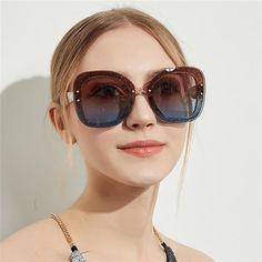 246acb0dc0  Fashion  BestPrice ROYAL GIRL Oversize Sunglasses Women Transparent Frame  Eyeglasses Pink Gray UV400 ss795