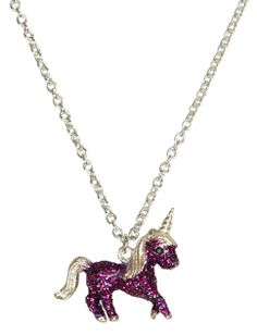 Ummmm, Charzie might need this... Glitter Unicorn Necklace | Girls Jewelry Accessories | Shop Justice