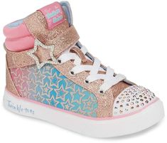 987cc9036e6 Skechers Twinkle Toes Twinkle Lite Sparkle Status Girls  Light Up ...