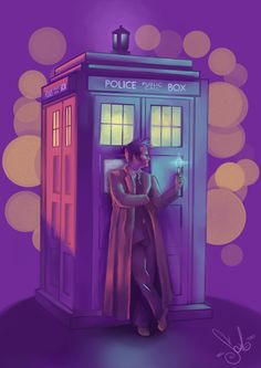 Just the Doctor - by me (Strega02) my DeviantArt page --> http://strega02.deviantart.com/art/Just-the-Doctor-409002822