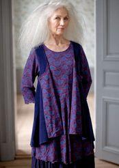 """""""Viva"""" velour waistcoat in organic cotton & polyester"""