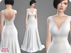 Wedding Dress 10 RECOLOR 1 by Colores Urbanos at TSR • Sims 4 Updates