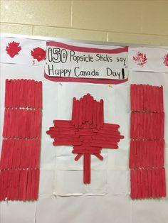 Happy Canada Day, Canada 150, Popsicle Sticks, Ice Cream Sticks, Popsicles, Ice Pops