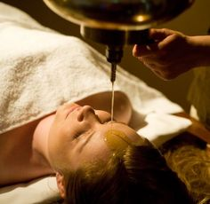 #Shirodhara; a deeply therapeutic Ayurvedic oil treatment available from Ayurveda Retreat in Reading, UK. www.ayurveda-retreat.co.uk