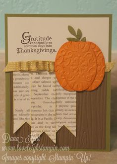 Stampin' Up! Thanksgiving Punch Art Card