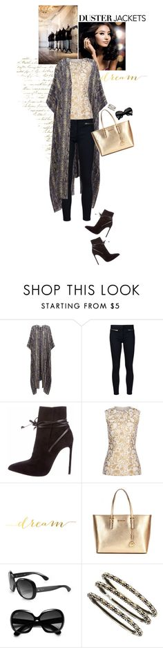"""""""dreaming of dusters"""" by michellenorris ❤ liked on Polyvore featuring We Are Leone, Veronica Beard, Yves Saint Laurent, STELLA McCARTNEY, MICHAEL Michael Kors, Ray-Ban and John Hardy"""
