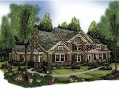 Eplans Craftsman House Plan - Five Bedroom Craftsman - 4405 Square Feet and 5 Bedrooms(s) from Eplans - House Plan Code HWEPL62898