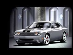 2008 - 2012 DODGE CHALLENGER THE AUTOMOTIVE ART OF DANNY WHITFIELD MY FAVORITE OF COURSE!